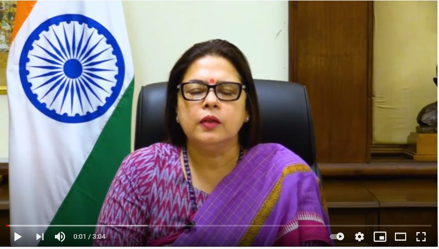 Message from the Hon. MOS for External Affairs, Smt. MeenakshiLekhi on